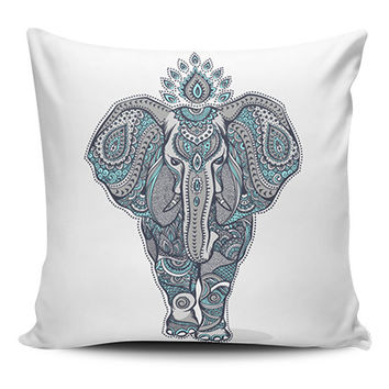 Blue Elephant Spiritual Pillow Covers