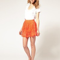 ASOS | ASOS Neon Lace Mini Skirt at ASOS