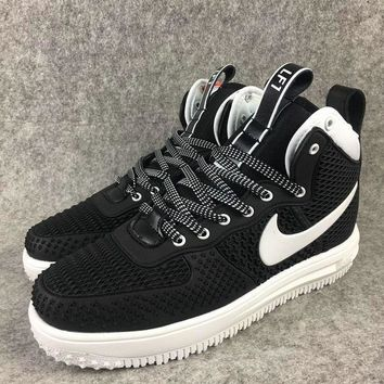 2018 Really Cheap Nike Lunar Force 1 Duckboot High Black White shoes