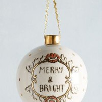 Molly Hatch Ceramic Cheer Ornament