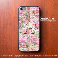 iPhone 6 Case Elephant on Flower Wooden Floor