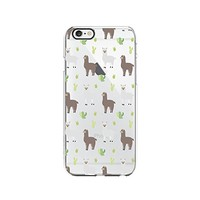 Llama Pattern Merry Christmas Transparent Silicone Plastic Phone Case for iphone 7 _ LOKIshop (iphone 7)