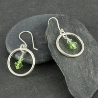 Flirty sterling silver earrings with Swarovski crystals