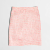 Factory shimmery tweed mini skirt