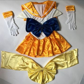 child grils children plus size super sailor moon costume for kids adult sexy cosplay for unisex Sailor Neptune for women dress