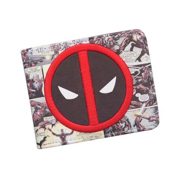New Designer 2018 DEADPOOL WALLET Student Comics Cartoon Wallet & Purse ID Credit Card Holder Leather Bag Cool Wallet For Men