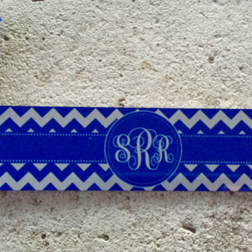 Chevron Bookmark with Monogram