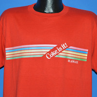80s Hawaii Coke Is It Rainbow t-shirt Extra Large