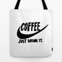 Coffee Tote Bag by Hand Drawn Type