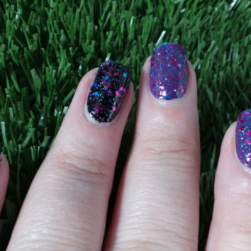 "Nail Polish ""Starstruck"" Pink, Purple & Teal with Blue holographic glitter Full Size 12ml"