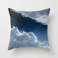 Sky, clouds and lights. Throw Pillow by VanessaGF