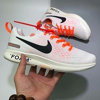 Off White x Nike air zoom pegasus Woman Men Fashion Sneakers Sport Shoes