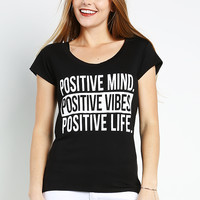 Positive Mind Printing Top