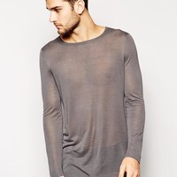 ASOS | ASOS Longline Jumper with Drawcords at ASOS
