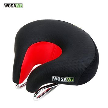 WOSAWE Outdoor Sports Bicycle Riding Cycling Breathable High Elasticity Shock Absorption Mountain Bike Saddle Hollow Bike Seat H