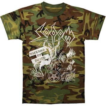 Sodom Men's  Victims Of Death Tee (Camo) T-shirt Camouflage