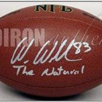 Autographed Wes Welker Football - wInsc | Authentic Signed