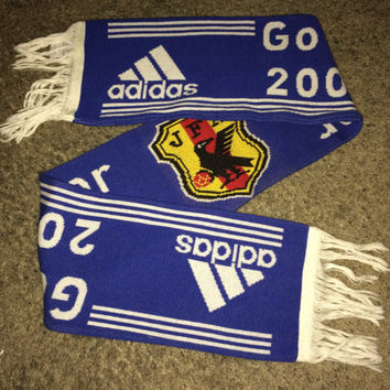 Sale!! Vintage Adidas 2004 Soccer Scarf for Supporting JAPAN in Football World Cup 2006