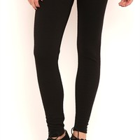 Stripe Textured Leggings with Exposed Elastic Waistband