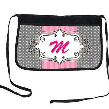 Monogram Two-Pocket Waitress Half Apron