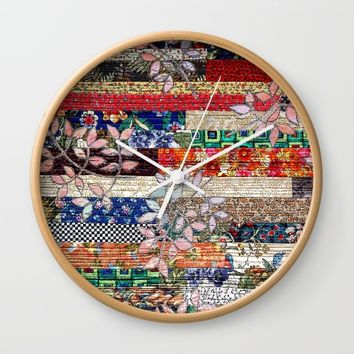 Autumn leaves Wall Clock by Bozena Wojtaszek
