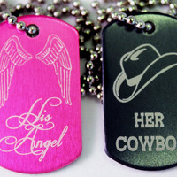 Cowboy and Angel Necklaces