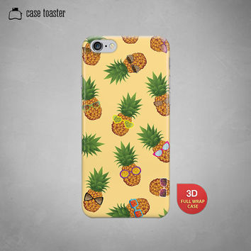 "Tropical pineapple  - iphone 6 case (4.7""), iphone 6 plus case (5.5""), iphone 5C case, iphone 5S case, iphone 4S case, iphone case"