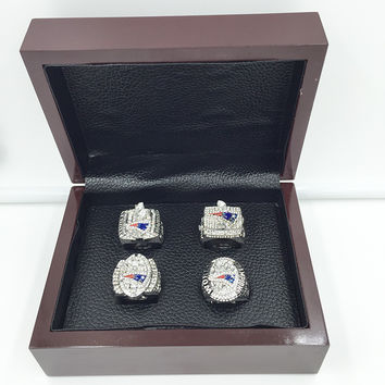 New England Patriots Super Bowl Championship Replica Rings 4 Years Set