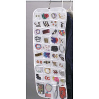 Hanging 80-Pocket Vinyl Jewelry Organizer