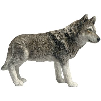 """Sandicast """"Mid Size"""" Standing Gray Wolf Sculpture"""