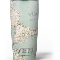 The Vintage Map of Cape Cod Yeti Rambler Skin Kit