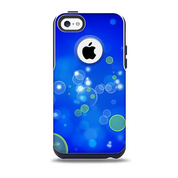 The Lime Green & Blue Unfocused Cells Skin for the iPhone 5c OtterBox Commuter Case