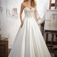 Morilee Mara 8114 Strapless Satin Ball Gown Wedding Dress