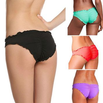 DCCKH3F Women Brazilian Cheeky Bikini Bottom Thong Bathing Beach Swimsuit Swimwear Plus Size