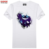 Gengar Out Of Your T Shirt Design 3D Effect Pokemon Go T-shirt Cool Novelty Funny Tshirt Style Men Women Printed Fashion Top Tee