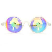 Clear Kaleidoscope Glasses- Rainbow Wormhole