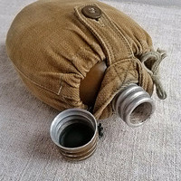Vintage military Flask 1970s, Soviet Army flask, Water Bottle, metal flask, soldier, Vintage, home decor, collectibles, steampunk, Military
