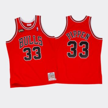 Mitchell & Ness Scottie Pippen 1997-98 Authentic Jersey Chicago Bulls Red