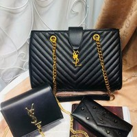 Year-End Promotion 3 Pcs Of Bags Combination (YSL Big Bag ,YSL Little Bag ,YSL Wallet)