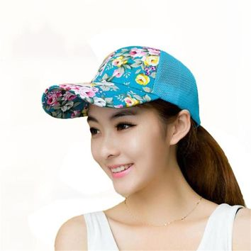 2017 Fashion Women Baseball Hats Sunshade Gorras Vintage Floral Rose Bone Snapback Caps Women Summer Planas Hip Hop Hat 45De282