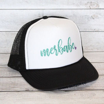 Merbabe - Mermaid - Beach Hat  // Trucker Hat