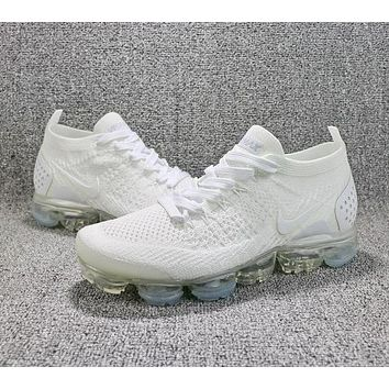 2018 Nike Air VaporMax Flyknit 2.0 Triple White 942842-100 Sport Running Shoes-1