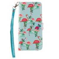 Samsung Galaxy S8 Flamingo Wallet with Matching Case