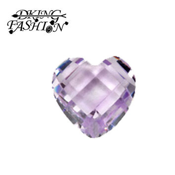 free shipping birthstone charms resin heart  June perple birthstone charm for floating living  memory locket