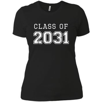 Class of 2031 Grow With Me  First Day of School  Next Level Ladies Boyfriend Tee