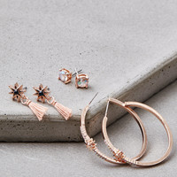 AEO Rose Gold Hoop Earring 3-Pack, Rose Gold