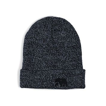 Knit Beanie in Heathered Navy by The Normal Brand