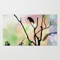 The Lonely Crow At Sunset Rug by minx267