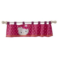 Lambs & Ivy Window Valance - Hello Kitty Garden