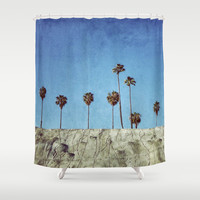 Bluff Palms Shower Curtain by RichCaspian | Society6